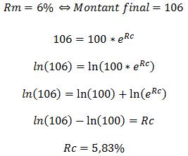 taux composé continu