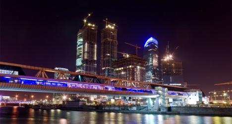 Ville russe de nuit